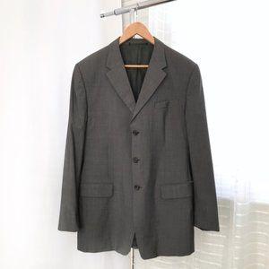 Prada Charcoal Gray Wool/Silk Blend Blazer